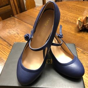 5.5 Navy Blue low heel Chase & Chloe (ModCloth)